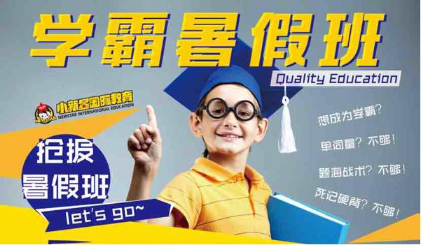 小新星国际教育陇西校区招生重磅来袭!学霸暑假班