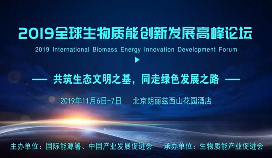 2019全球生物质能创新发展高峰论坛暨科技装备展