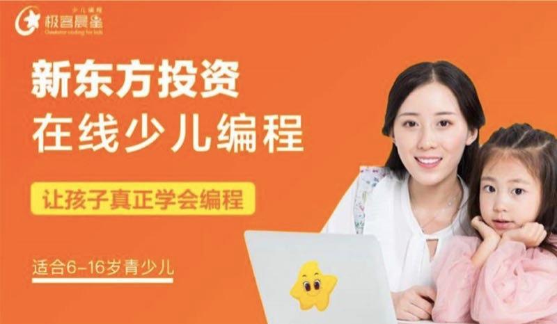 新东方集团投资-极客晨星少儿编程课限时特惠,9.9元6节课